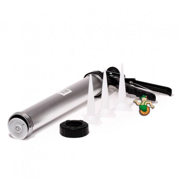 Handauspresspistole für Korkfüllmasse mit 3 Beuteldüsen