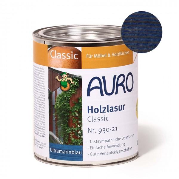 Holzlasur, Classic, Nr. 930-21 Ultramarin-Blau