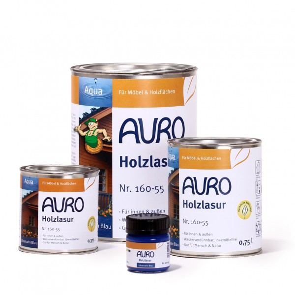 Holzlasur, Aqua, Nr. 160-55 Ultramarin-Blau