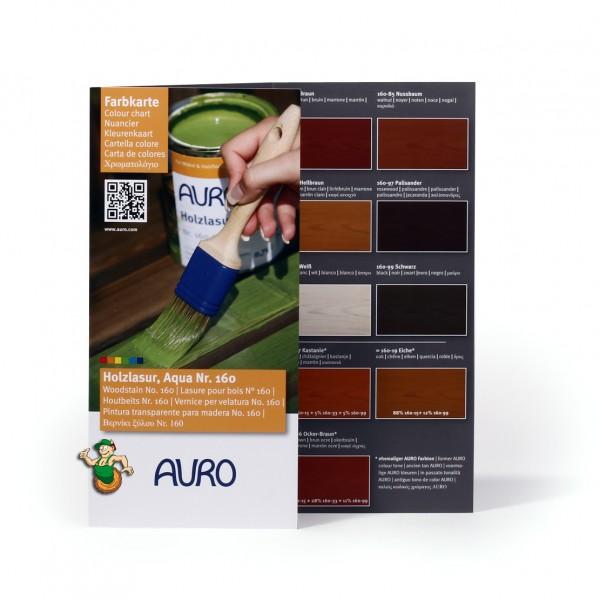 Farbkarte klein Holzlasur Aqua Nr. 160