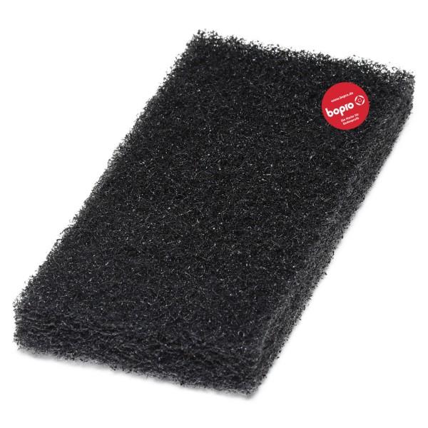 Schwarzes Super-Reinigungspad groß
