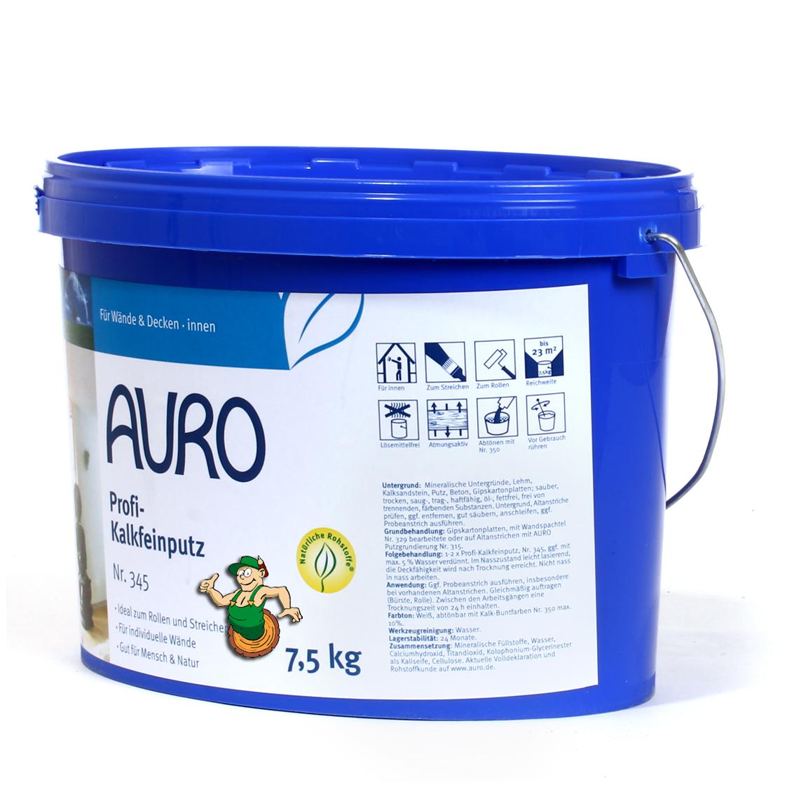 Auro profi kalkfeinputz nr 345 auro shop - Keller wandfarbe atmungsaktiv ...
